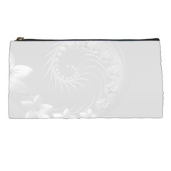 Light Gray Abstract Flowers Pencil Case by BestCustomGiftsForYou