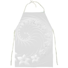 Light Gray Abstract Flowers Apron by BestCustomGiftsForYou