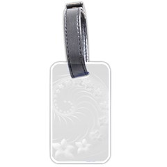 Light Gray Abstract Flowers Luggage Tag (one Side) by BestCustomGiftsForYou