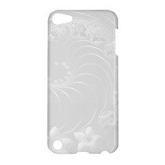 Light Gray Abstract Flowers Apple Ipod Touch 5 Hardshell Case by BestCustomGiftsForYou
