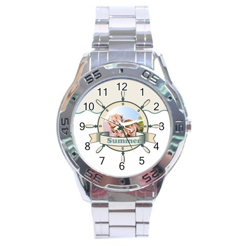 Summer By Summer Time    Stainless Steel Analogue Watch   Ekf6ct47d5fx   Www Artscow Com Front