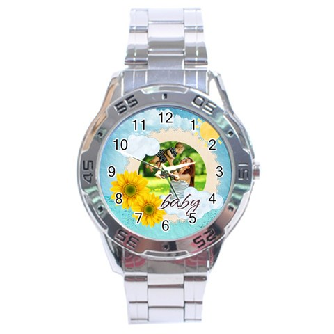 Summer By Summer Time    Stainless Steel Analogue Watch   Z2c1xjkv01ld   Www Artscow Com Front