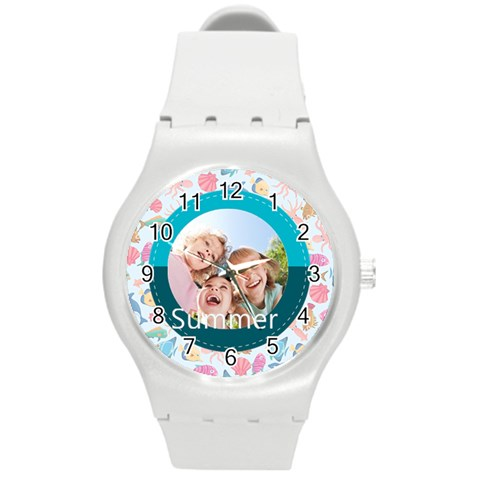 Summer By Summer Time    Round Plastic Sport Watch (m)   0efecil81ygh   Www Artscow Com Front