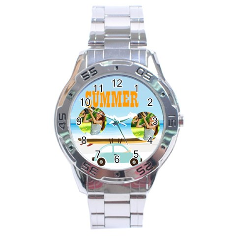 Summer By Summer Time    Stainless Steel Analogue Watch   6wuqhtc5i6nt   Www Artscow Com Front