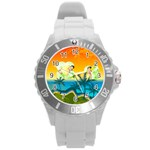 summer - Round Plastic Sport Watch Large