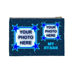 My Stars Large Cosmetic Bag By Joy Johns   Cosmetic Bag (large)   556dl672vkd1   Www Artscow Com Back