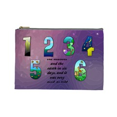 The Creation Story Large Cosmetic Bag By Joy Johns   Cosmetic Bag (large)   6vb4rfq6ymf1   Www Artscow Com Front