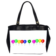Balloons Oversize Office Handbag (two Sides) by JesusEqualsLove