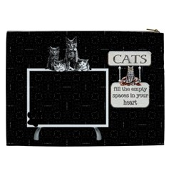 Love Cats Xxl Cosmetic Bag By Lil    Cosmetic Bag (xxl)   Zo0ve19b87xz   Www Artscow Com Back