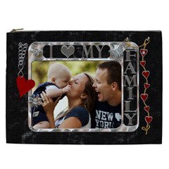 Love Family Xxl Cosmetic Bag By Lil    Cosmetic Bag (xxl)   S1a3thpi1f9x   Www Artscow Com Front