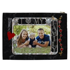 Love Family Xxl Cosmetic Bag By Lil    Cosmetic Bag (xxl)   S1a3thpi1f9x   Www Artscow Com Back