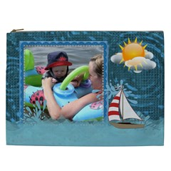 Water Fun Xxl Cosmetic Bag By Lil    Cosmetic Bag (xxl)   Ixwom5u71e5q   Www Artscow Com Front