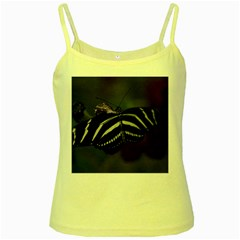 Butterfly 059 001 Yellow Spaghetti Tank by pictureperfectphotography