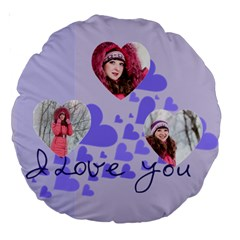Love By Ki Ki   Large 18  Premium Round Cushion    Pllrvwq15pry   Www Artscow Com Back
