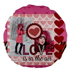 Love By Ki Ki   Large 18  Premium Round Cushion    Xaexfu569lu6   Www Artscow Com Back