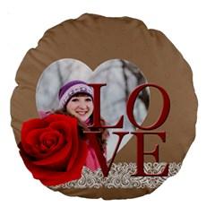 Love By Ki Ki   Large 18  Premium Round Cushion    Enn0vkve4yd5   Www Artscow Com Front