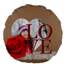 Love By Ki Ki   Large 18  Premium Round Cushion    Enn0vkve4yd5   Www Artscow Com Back