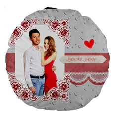 Love By Ki Ki   Large 18  Premium Round Cushion    A41ncj4crr09   Www Artscow Com Back