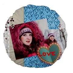 Love By Ki Ki   Large 18  Premium Round Cushion    5kp4s5tzv6qk   Www Artscow Com Back