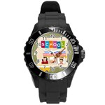 school life - Round Plastic Sport Watch (L)