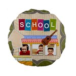 back to school - Standard 15  Premium Round Cushion