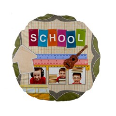 Back To School By Jo Jo   Standard 15  Premium Round Cushion    Dzjidf7zh6x6   Www Artscow Com Back