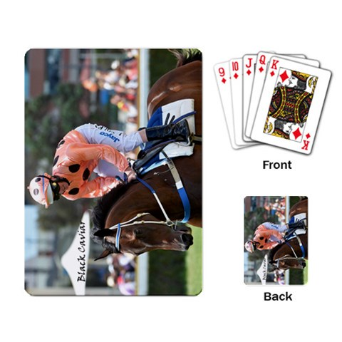 Black Cav By Gunner Smith   Playing Cards Single Design   2d6f84aedvsu   Www Artscow Com Back