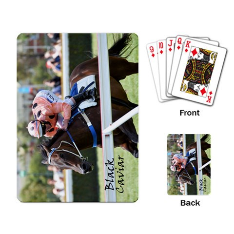 Black Cav By Bill Connolly   Playing Cards Single Design   1a8k3add7e0y   Www Artscow Com Back