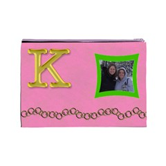 Katie By Rebecca Shields   Cosmetic Bag (large)   P8szld1220ac   Www Artscow Com Back