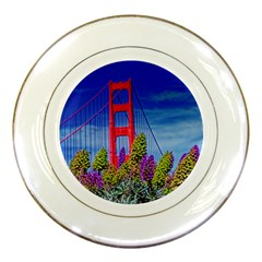 Bridge In S F Porcelain Display Plate by designsbyvee