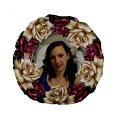 Roses 15  Premuim Round Cushion By Deborah Back