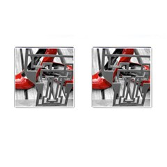 Tt Red Heels Cufflinks (square) by dray6389