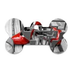 Tt Red Heels Dog Tag Bone (two Sided)