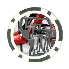 Tt Red Heels Poker Chip by dray6389