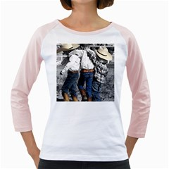Cowboys Womens  Long Sleeve Raglan T Shirt (white)