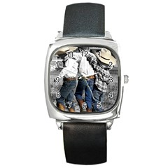 COWBOYS Square Leather Watch by dray6389
