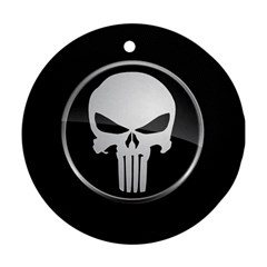 The Punisher Wallpaper  Round Ornament by sterlinginme