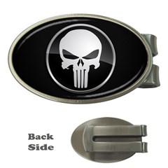 The Punisher Wallpaper  Money Clip (oval) by sterlinginme