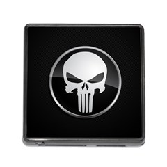 The Punisher Wallpaper  Memory Card Reader With Storage (square) by sterlinginme