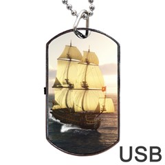 French Warship Dog Tag Usb Flash (one Side) by gatterwe
