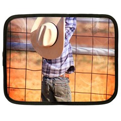 Little Cowboy Netbook Case (large) by dray6389