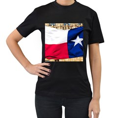 Texas Womens' Two Sided T Shirt (black) by dray6389
