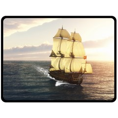 French Warship Fleece Blanket (extra Large) by gatterwe