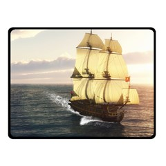 French Warship Fleece Blanket (small) by gatterwe
