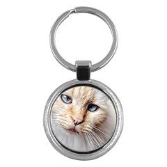 Blue Eyes Key Chain (round) by dray6389
