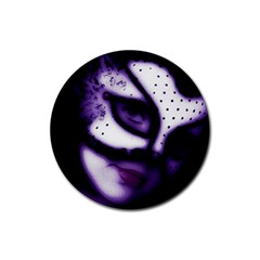 Purple M Drink Coaster (round)