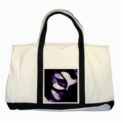 Purple M Two Toned Tote Bag by dray6389