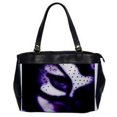 Purple M Oversize Office Handbag (one Side)