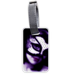 Purple M Luggage Tag (two Sides)