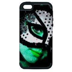 Masked Apple Iphone 5 Hardshell Case (pc+silicone) by dray6389